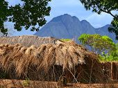 Nampula, Mozambique - 6 December 2008: The Settlement. National African House With A Thatched Roof.