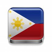 Metal  icon of Philippines