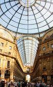 Galleria Vittorio Emanuele Ii Shopping Gallery In Milan, Italy