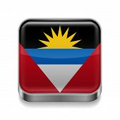 Metal  icon of Antigua and Barbuda