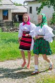 Women in national port, Romania