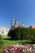 Wawel Cathedral on wawel hill in old town in cracow in poland