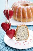 homemade poppyseed Easter cake - sweet food