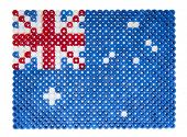 Australian Flag made of plastic pearls