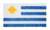 Uruguayan Flag made of plastic pearls
