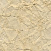 Crushed Brown Paper, Vector Illustration