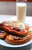 Milk And Sandwiches