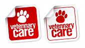 Veterinary care stickers.