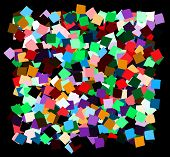 pic of deformed  - mess of the color deformed squares on the black background - JPG