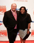 NEW YORK-APR 9: Chef Mario Batali & Margarette Purvis, Food Bank President & CEO, attend the Food Ba