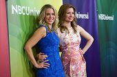 PASADENA - APR 8: Jessica St. Clair, Lennon Parham at the NBC/Universal's 2014 Summer Press Day held