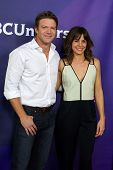 PASADENA - APR 8: Stephanie Szostak, Matt Passmore at the NBC/Universal's 2014 Summer Press Day held