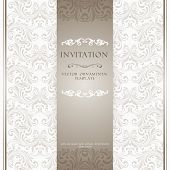 Light beige ornamental invitation card