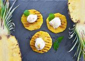 Grilled Pineapple With Ice Cream