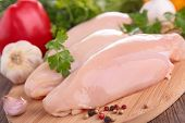 picture of  breasts  - raw chicken breast - JPG