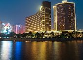 The Wynn Esplanade Casino Building At Night In Macao