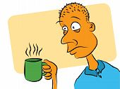 picture of shaky  - Man Who Needs Coffee to wake up - JPG