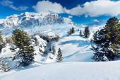 image of italian alps  - landscape with winter mountains in Italian Alps - JPG