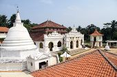 picture of vihara  - Tile roof and temple in Wewurukannala Vihara near Dikwella Sri Lanka - JPG