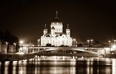 River and Cathedral of Christ the Saviour at night