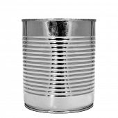 a cylindrical can on a white background