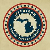 Vintage Label Michigan