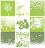 Spring green cards