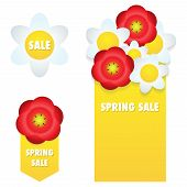 Spring Sale Banners And Labels