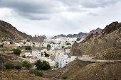 image of oman  - View to Muscat in Oman on a cloudy day - JPG