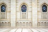 picture of oman  - Windows of Grand Sultan Qaboos Mosque in Muscat Oman - JPG