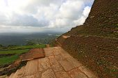 old wall of Sigiriya castle, Sri lanka