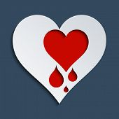 image of heartbreak  - Concept for Heartbleed bug love and heart health - JPG