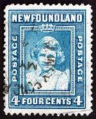 Postage Stamp Newfoundland 1938 Princess Elizabeth, Portrait