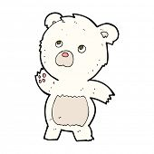 cartoon curious polar bear