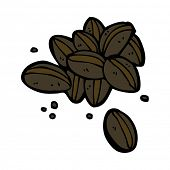 cartoon coffee beans