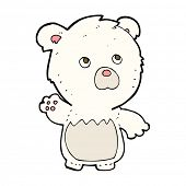cartoon polar teddy bear