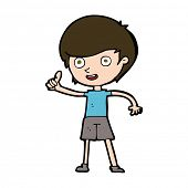 cartoon boy giving thumbs up symbol
