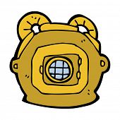 cartoon deep sea diver helmet