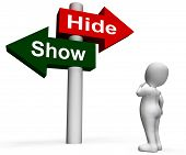 Show Hide Signpost Means Conceal Or Reveal