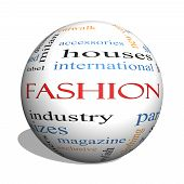 Fashion 3D Sphere Word Cloud Concept