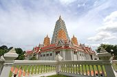 PATTAYA, THAILAND - AUGUST 2013 : Pagodas at Wat Yannasangwararam Worawiharn temple in Pattaya, Thai