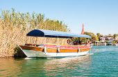 stock photo of dalyan  - Turkey a boat trip on the river Dalyan - JPG