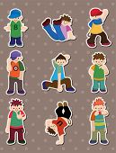 Hip Hop Boy Stickers