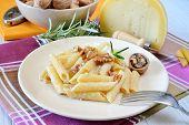 Rigatoni And Nuts Cream