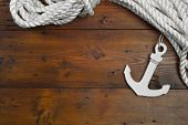 foto of lifeline  -  Maritime Anchor Decoration  - JPG