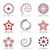 Stars set.  Design elements. Vector art.