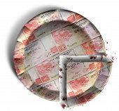 Slice Of Hong Kong Dollar Money Pie
