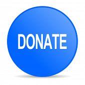 donate internet blue icon