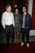 LOS ANGELES - SEP 16:  Michael Parks, Genesis Rodriguez, Justin Long at the