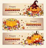 Retro Halloween Banners - EPS 10